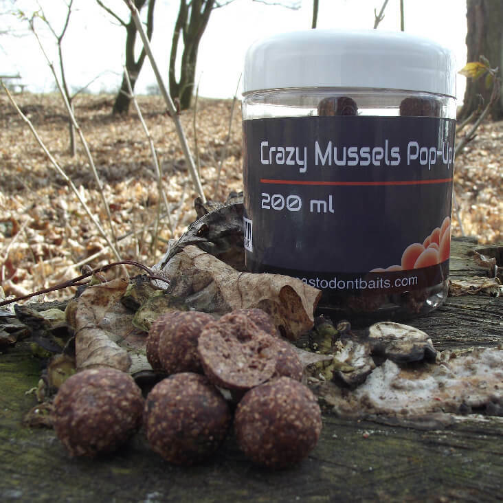 Mastodont Baits Pop-Up Boilies Crazy Mussels 16mm 200ml
