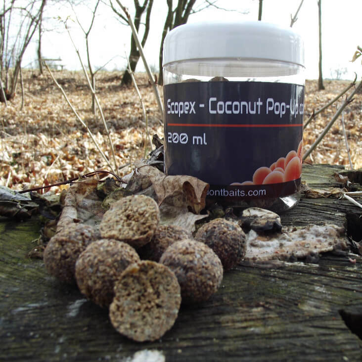 Mastodont Baits Pop-Up Boilies Scopex -Coconut 16mm 200ml