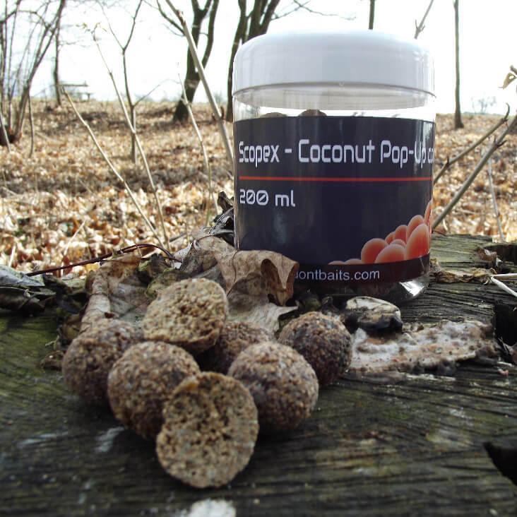 Mastodont Baits Pop-Up Boilies Scopex -Coconut 16mm 200ml